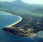 Aerial view of Port Douglas, Queensland 1971