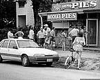 Mocka's Pie Shop, Macrossan St, Port Douglas in 1980s? Mocka's Pies became world famous because of a secret recipe invented by Mocka's mum, Belle Cheyne